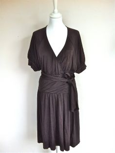 Diane Von Furstenberg Chocolate Silk Blend Wrap Dress via The Queen Bee. Click on the image to see more!