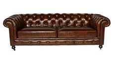 Buy Leather Chesterfield Sofa in Antiqued Vintage Leather by Lazzaro 5503 Senator Collection - Topvintagestyle.com ✓ FREE DELIVERY possible on eligible purchases