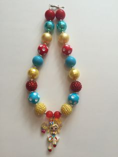 Popette Shoppies Girl Shopkins inspired chunky bead necklace by MissMelsCottage on Etsy