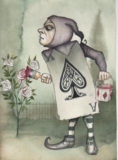 The characters from Alice in Wonderland, the classic novel by Lewis Carroll, retain their status as one of the most popular subjects for artists to illustrate, almost 150 years later. Alicia Wonderland, Alice In Wonderland Theme, Adventures In Wonderland, Wonderland Party, Lewis Carroll, Alice In Wonderland Paintings, Alice In Wonderland Illustrations, Painting The Roses Red, Alice Madness