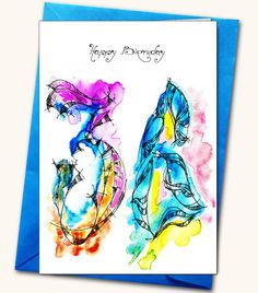 36th Birthday Greeting card Personalised cards by LubaFenwickGifts