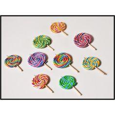 Collier sucette lollipop fait main en pâte polymère fimo par BleuetClaymentine - Un bonbon a avoir autour du cou !