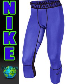 Nike Men's Hypercool 3/4 Compression Tights Pant 636161-480 Size Medium #Nike #Pants