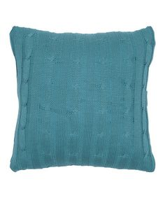 Another great find on #zulily! Turquoise Cable-Knit Throw Pillow #zulilyfinds