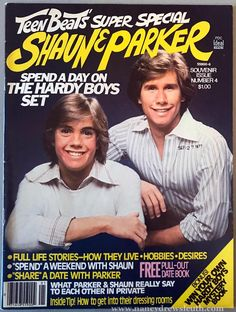 1977 Teen Beat's Super Special Shaun Cassidy And Parker Stevenson My Childhood Memories, Sweet Memories, Parker Stevenson, Nancy Drew Mysteries, 70s Tv Shows, Tiger Beat, Shirley Jones, Old Tv, The Good Old Days