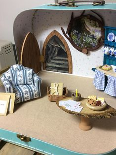 Bespoke diorama specifically designed according to client's specifications. This illustration serves only as an example of complexity. In this case it will feature Ratón Pérez the ( tooth fairy) Mouse. A Maileg Big Brother Mouse was chosen to play the part of this character and