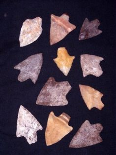 arrowheads Imagine the learning investigation launched from a collection of arrowheads.  Every state has maps of historic indigenous people.  Replicas of arrowheads can be borrowed from many museums with interpretation kits for support.  Arrowhead replicas can be made by children and so much more.