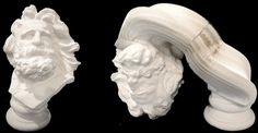 Stretchy Slinky Sculptures, sculpture9. For no particular reason except that it's awesome, captivating Greco-Roman-style sculptures made from layers of paper by artist Li Hongbo, currently at the Sun Klein Gallery in New York.