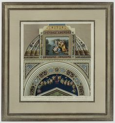 """Vatican Panel,"" Ottaviani, Copperplate Engraving with Gouache in a handmade white gold frame with a hand-wrapped silk mat and a custom finished fillet. Framed to conservation standards with archival materials. Burning Bush, Nile River, This Is Us Quotes, Red Sea, Antique Prints, Online Gallery, Hand Coloring, Shadow Box, Custom Framing"