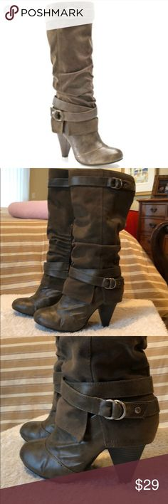 """Fergalicious Cashia boot 🖤Good condition, general wear. 4"""" heels, 16"""" total boot height and 16"""" boot circumference Fergalicious Shoes Heeled Boots"""