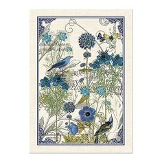 Superbe Michel Design Works Blue Kitchen Towel