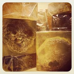 Honey Soap with Loofa by SwiftwaterSoapCo on Etsy, $6.00