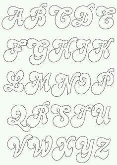 Felt lettering patterns – Graffiti World Alfabeto Graffiti, Fonte Alphabet, Initial Canvas, Alphabet Templates, Alphabet Stencils, Hand Lettering Alphabet, Bubble Letters Alphabet, Bubble Letter Fonts, Fancy Fonts Alphabet