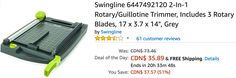 Amazon Canada Deals Of The Day: Save 51% on Swingline Rotary/Guillotine Trimmer & 44% on The Originals: Season 4 http://www.lavahotdeals.com/ca/cheap/amazon-canada-deals-day-save-51-swingline-rotary/227800?utm_source=pinterest&utm_medium=rss&utm_campaign=at_lavahotdeals