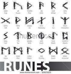 Viking Symbols   ... Runes Vector Illustration Icons Symbols - 50821825 : Shutterstock