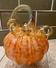Halloween Pumpkin Designs, Halloween Pumpkins, Pumpkin Art, Glass Pumpkins, Fall Decorating, Blown Glass, Glass Art, Gothic, Objects