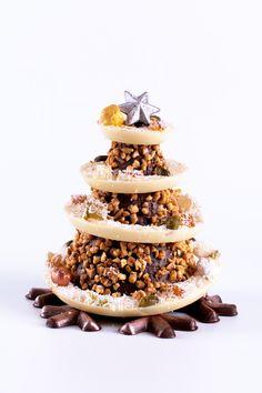 Arbre de Xocolata amb grué d'Ametlla #nadal #familia #sauleda #christmas #tree