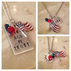 Forth of July Necklaces 4th of July Jewelry  by OneDreamReached, $18.00