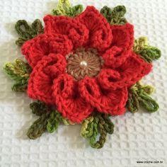 Flor coração passo a passo - croche.com (82)