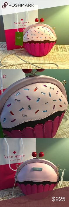 """Kate Spade ♠️ Lets Eat Cake Novelty Cross Body NWT AUTHENTIC KATE SPADE MULTI SPRINKLE CUPCAKE NOVELTY CROSS BODY TAKE THE CAKE.   MSRP $249  8 1/2"""" WIDTH (Middle) 7"""" HEIGHT (Middle) 4"""" DEPTH (Bottom) STRAP DROP ~ 48 INCHES  IMMEDIATE SHIPPING UPON RECEIPT OF PAYMENT FROM A SMOKE FREE HOME. PLEASE FEEL FREE TO ASK ANY QUESTIONS PRIOR TO PURCHASING. kate spade Bags Crossbody Bags"""