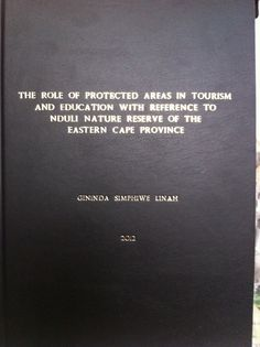 Thesis for Walter Sisulu University, in navy blue.
