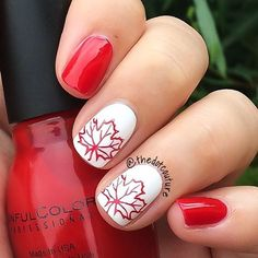 Ideas for manicure designs japan French Nails, Sparkle French Manicure, Accent Nail Designs, Toe Nail Designs, Acrylic Nail Designs, Red And White Nails, Red Nails, Hair And Nails, Holiday Nails