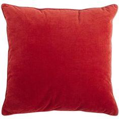 Gypsy Interior Design-Dress My Wagon  Serafini Amelia  Oversized Plush Pillow - Red