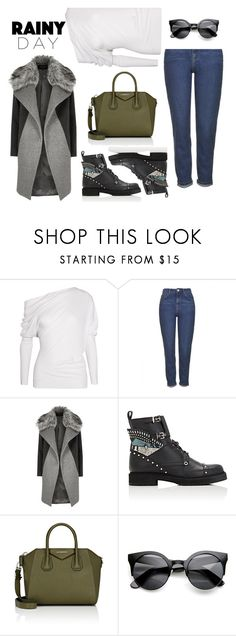 """Splish Splash: Rainy Day Style"" by afef-ktari ❤ liked on Polyvore featuring Tom Ford, Topshop, River Island, Fendi, Givenchy, rainyday, polyvorecontest and polyvorefashion"