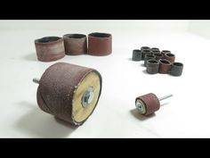 How To Make Sanding Cylinders For Drill And Dremel Or Rotary Tool(Interchangeable Sandpaper) - YouTube