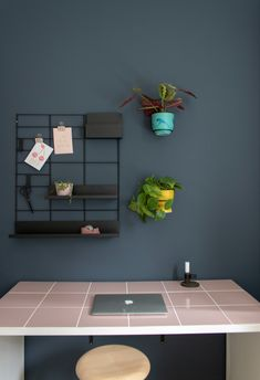 Decorate your home office with green plants, it enhances the efficiency and work satisfaction. Plant Wall, Green Plants, Ping Pong Table, Decorating Your Home, Home Office, Furniture, Home Decor, Decoration Home, Room Decor