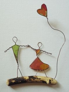 Wire Art: Driftwood, Copper Wire & Paper...