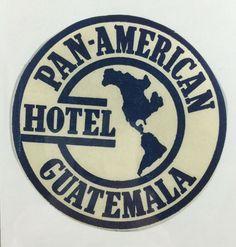 GUAYAQUIL ECUADOR HOTEL HUMBOLDT INTERNATIONAL VINTAGE LUGGAGE LABEL