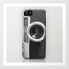 Old School Camera Phone iPhone5 case - Also available as iPhone4 case and skin Art Print by Nicklas Gustafsson - $12.48