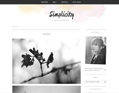 Free premade Blogger template! Click on the pic to go to the download or check out the preview first: http://simplicity-template-design.blogspot.com/  The watercolor header is not shown in the preview but it's included in the download. :)
