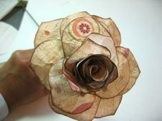 Lovely hand made roses. Make a vase full.  A couple to give to a friend. Wrap the stem around a tiny package. Insert into ribbon on a gift. Decorate the Christmas tree.