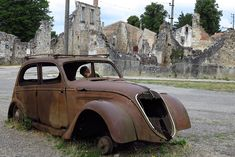 D-Day Anniversary: The Ghost Town of Oradour-sur-Glane, Scene of a Nazi Massacre Limousin, Saint Junien, Nuremberg Rally, Abandoned Cities, Abandoned Cars, D Day Landings, California Wildfires, I Want To Travel, Ghost Towns