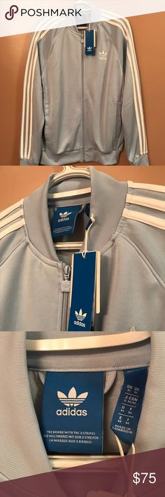 Light Blue Adidas Zip Up Jacket NEVER WORN BEFORE NWT ADIDAS JACKET -BRAND SPANKIN NEW!!!!🙌🏼🤘🏼 -SIZE MEDIUM: RUNS LARGE -Purchased from CHAMPS in local mall  -PERFECT CONDITION!!!!!✔️✔️✔️ adidas Tops Sweatshirts & Hoodies