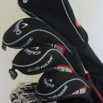 NEW Mens RH Callaway Complete Golf Set Clubs Driver, Fairway Woods, Hybrid, Irons, Putter, Stand Bag Right Handed Regular Flex   Golf gifts by george