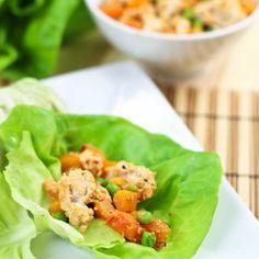 Ground Chicken and Butternut Squash Lettuce Wraps - make with ground turkey