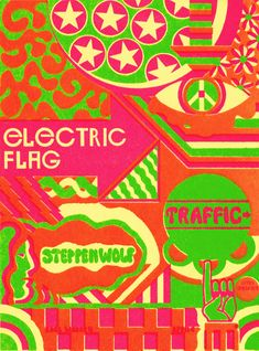 Electric Flag concert poster by Frank Bettencourt (1968) Classic rock music concert poster psychedelic ☮ ☮❥Hippie Style❥☮☮