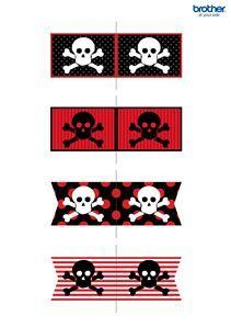 Fournitures et décorations de fête des pirates | Modèles gratuits – Brother