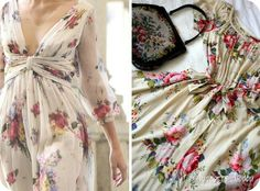 Платье, шифон, цветочная расцветка