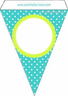 Kit Festa Corujinha Para Imprimir Grátis Free Banner, Diy Banner, Spa Birthday Parties, Diy Birthday, Printable Banner, Party Printables, Graduation Theme, Little Mermaid Parties, Paper Banners