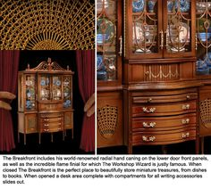 From the Good Sam Showcase of Miniatures: Dealers: Ferd & Millie Sobol - Fine Furniture from The Ferd Sobol Editions showing The Breakfront http://goodsamshow.blogspot.com/2014/09/dealers-ferd-millie-sobol-fine-furniture.html