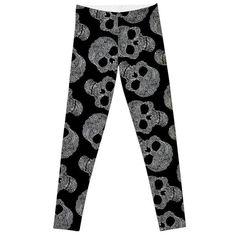 Elastic Trouser Skull Legging Pants