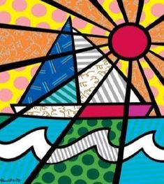 The official website and e-commerce shop for Pop Artist Romero Britto. Buy his collectibles and view his latest artwork reflecting a modern pop art theme. Middle School Art, Art School, Britto Disney, Pop Art, Creation Art, Graffiti Painting, Ecole Art, Art Plastique, Teaching Art