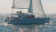The 'Anafi' Lagoon 450 Catamaran Sail Yacht is an ideal way to discover Santorini