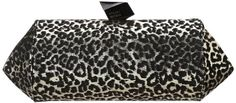 Stuart Weitzman  Carolyn Clutch Black Metallic Leopard �