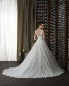 Deep V back ballgown wedding dress 318 - Bonny - Collections | Bonny Bridal