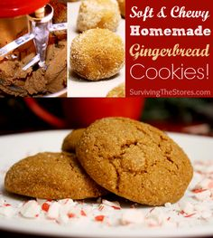 These are THE best gingerbread cookies!!  They are so soft and chewy and they aren't too sweet either!